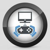 Video game icon — Stock Vector