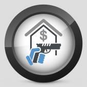 Raider icon — Stock Vector