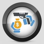 Robbery icon — Stock Vector