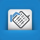 Mixer audio icon — Stock Vector