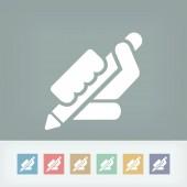 Icône de crayon — Vecteur