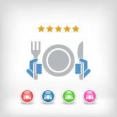 Restaurant icon. Top rating. — Stock vektor
