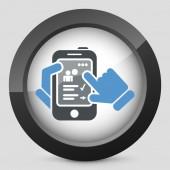 Smartphone icon. Chat application. — Vector de stock