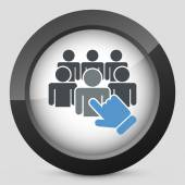 Staff selection icon — Stock Vector