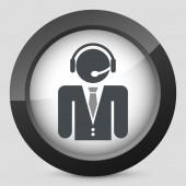 Contact bijstand pictogram — Stockvector