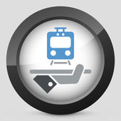 Travel icon. Train service. — Stock Vector