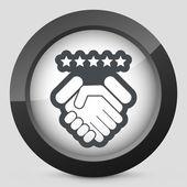 Satisfaction for best service. — Stock Vector