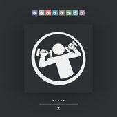 Gym icon 3d — Stock Vector