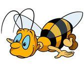 Flying Bumblebee — Stock Vector