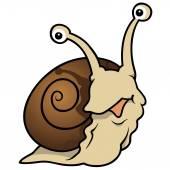 Waiting Snail — Stock Vector