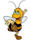 Dancing Bumblebee — Stock Vector