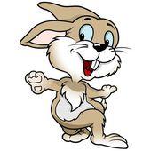 Cheerful Rabbit — Stock Vector