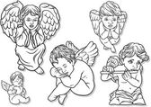 Little Angel Set — Stock Vector