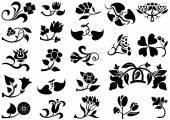 Flower Pictogram — Stock Vector