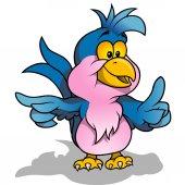 Blue Parrot — Stock Vector