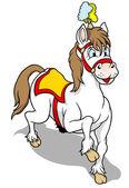 White Circus Horse — Stock Vector