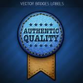 Authentic quality label — Stok Vektör