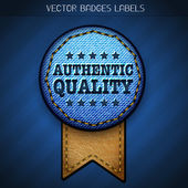 Authentic quality label — Stock Vector