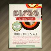 Disco party brochure design — Stock Vector