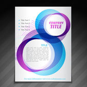 Company flyer brochure poster template — Vector de stock