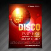 disco party flyer brochure poster template design — Stock Vector