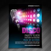 Disco party flyer brochure design — Stock Vector