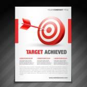 Achievement  flyer poster template design — Stock Vector