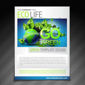 eco friendly flyer brochure design poster template — Stock Vector