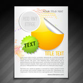 Promotion brochure flyer poster template — Stock Vector