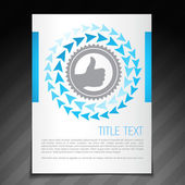 Achievement flyer brochure poster template design — Stock Vector