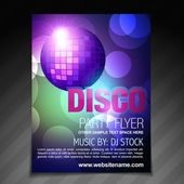 Disco party flyer brochure and poster template design — Stock Vector