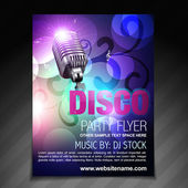disco party flyer brochure and poster template — Stock Vector