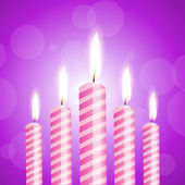 Illustration of shiny candles — Vector de stock