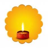Hindu festival diwali diya background — Stock Vector