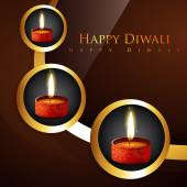 Stylish hindu festival diwali background — Stock Vector