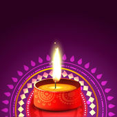 Hindu festival background of diwali — Stock Vector
