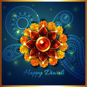 Artistic background of diwali — Stock Vector