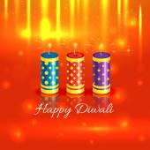 Crackers background of diwali — Stock Vector