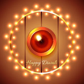 Happy diwali diya background — Vecteur