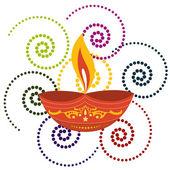 Artistic background of diwali — ストックベクタ