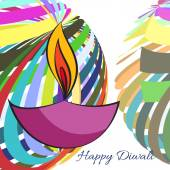 Colorful background of diwali — ストックベクタ