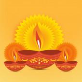 Diwali diya fondo — Vector de stock