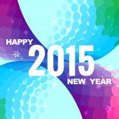 Happy new year with purple and blue background — Stock Vector