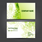 stylish green business template — Stock Vector