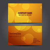 Attractive business card template — Stock Vector