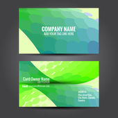 Simple and attractive business card — Stock Vector