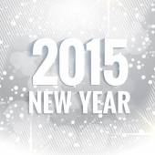 2015 new year text written in white — Stock Vector