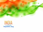 Indian republic day design celebrated on 26 january made with wa — Stock Vector
