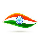 単純なベクトル インドの旗スタイル デザイン — ストックベクタ