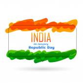 Indian 26th january republic day design — Stock Vector